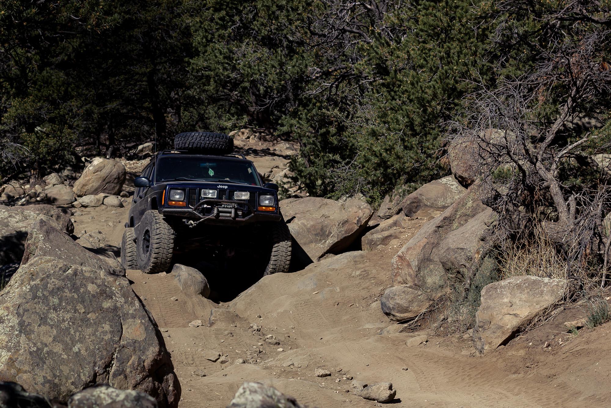 Rock crawling with Jeeps in Colorado